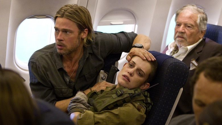 Brad Pitt on plane