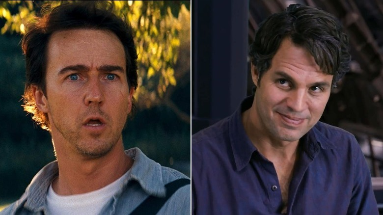Norton (left) and Ruffalo (right)