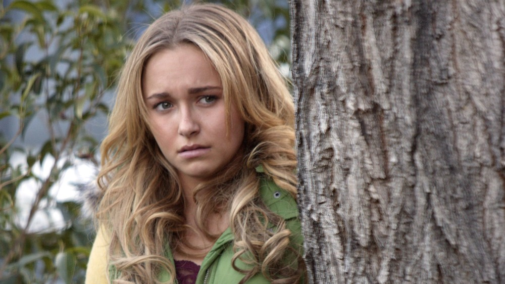Claire Bennet behind tree