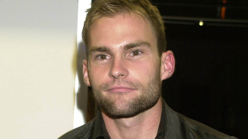 Seann William Scott looks at the camera